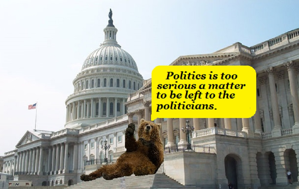Congress – Terrorized by a bear descending from the mountains and proposing bad laws